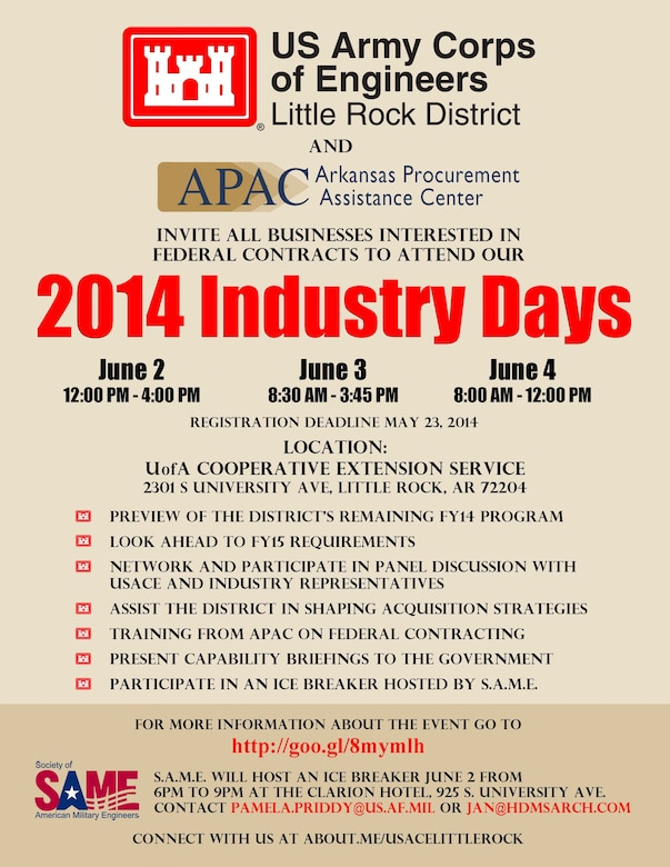 Little Rock District 2014 Industry Days