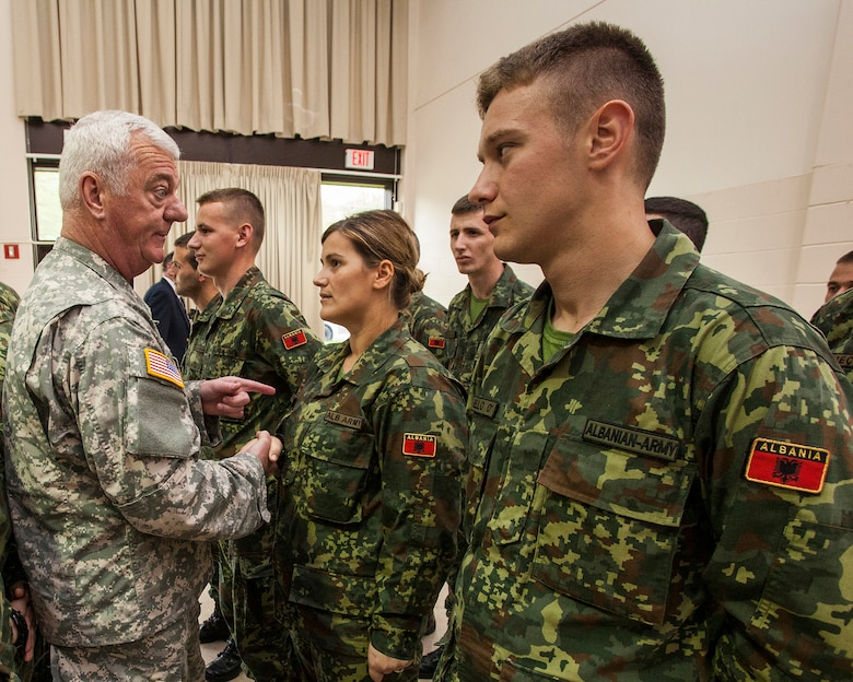 Nj army guard begins historic first albanian officer candidate school joint base mcguire dix - Military officer training school ...