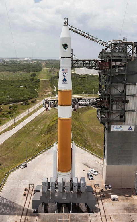 A Delta IV rocket stands ready to launch GPS IIF-6 into orbit, May 15. (Photo courtesy of United Launch Alliance)