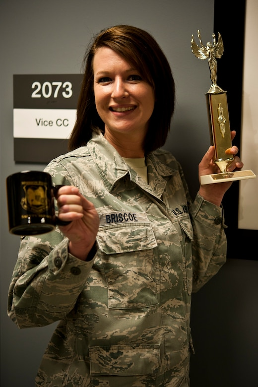 Staff Sgt. Jennifer Briscoe, 442nd Medical Squadron, poses for a photo May 15, 2014 at Whiteman Air Force Base, Missouri. Briscoe was named NCO of the Quarter for the first quarter of 2014. (U.S. Air Force photo by Senior Airman Daniel Phelps/Released)