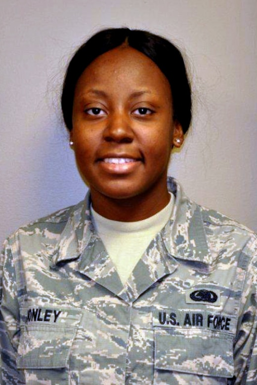 Senior Airman Natasha Donley, 476th Logistics Readiness Squadron, poses for a photo May 4, 2014 at Moody Air Force Base, Georgia. Donley was named Airman of the Quarter for the first quarter of 2014. (U.S. Air Force courtesy photo/Released)