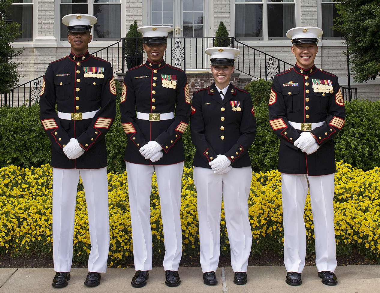 Marine corps to expand testing of new female dress blue coat.