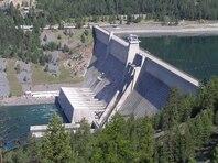 Libby Dam on the Kootenai River near Libby, Montana