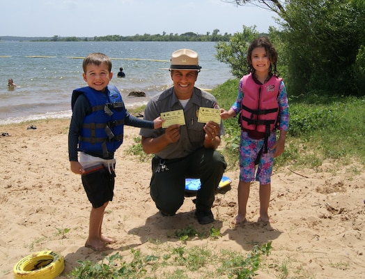 Tulsa District U.S. Army Corps of Engineers park rangers in Oklahoma and Oklahoma Highway Patrol Marine Patrol troopers will again be handing out tickets to children caught wearing their life jackets this year.
