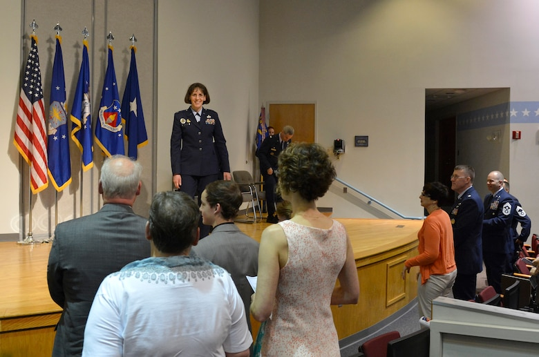 McGHEE TYSON AIR NATIONAL GUARD BASE, Tenn. - Col. Jessica Meyeraan becomes the 12th commander of the I.G. Brown Training and Education Center during a change-of-command ceremony held in Spruance Hall on May 22, 2014. (U.S. Air National Guard photo by Master Sgt. Kurt Skoglund/Released)