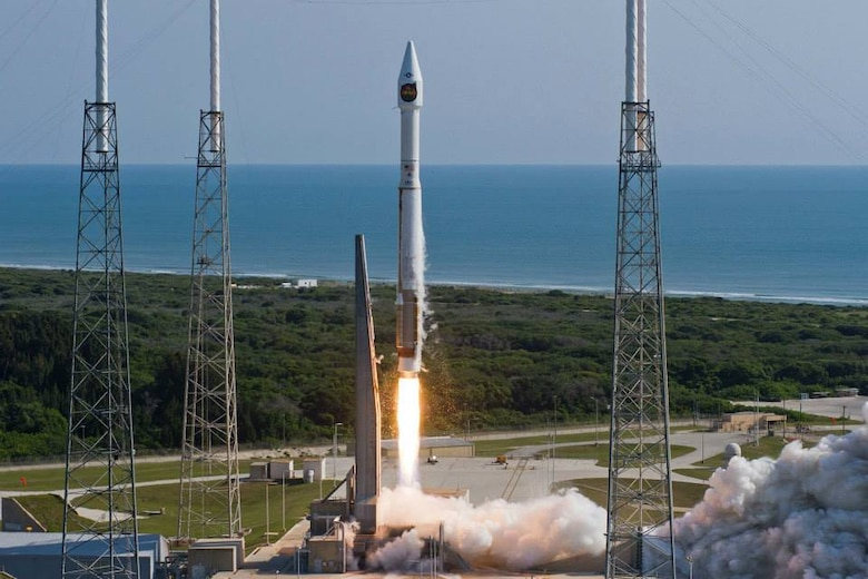 The 45th Space Wing successfully launched a United Launch Alliance-built Atlas V rocket from Space Launch Complex 41 at 9:09 a.m. May 22 carrying a classified national security payload. The payload was designed and built by the National Reconnaissance Office. The 45th Space Wing commander was pleased with the performance of the team for this launch. (Courtesy/United Launch Alliance)