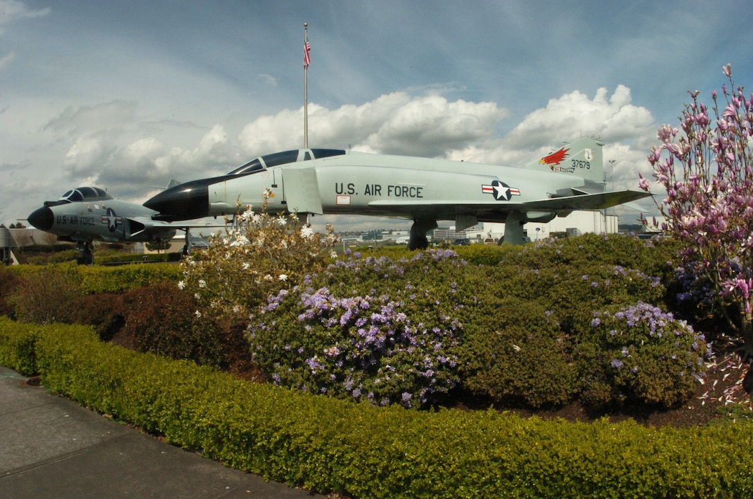 The Oregon ANG Memorial Park, with view featuring the F-4C  Phantom flown by the 142nd Fighter Wing. (Air National Guard photo by Tech. Sgt. John Hughel, 142nd Fighter Wing Public Affairs)