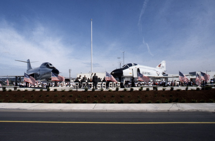 The Oregon ANG Memorial Park during the opened in Sept. of 1991, Portland Air National Guard Base, Ore. (Air National Guard photo, 142nd Public Affairs Office)