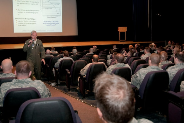 JOINT BASE ELMENDORF-RICHARDSON, Alaska -- Alaska air guardsmen of the 176 Wing attend Safety Day activities here May 23 to discuss vigilance and risk assessment in daily activities. U.S. Air National Guard photo by Staff Sgt N. Alicia Halla/ Released