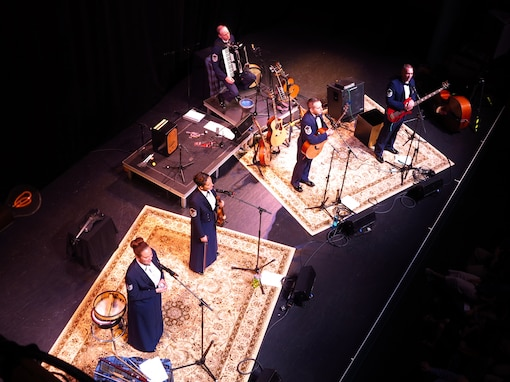 Celtic Aire performs at the Jarson-Kaplan Theater, Aronoff Center, Cincinnati, Ohio. (U.S. Air Force photo by Technical Sgt. Mandi Harper/released)