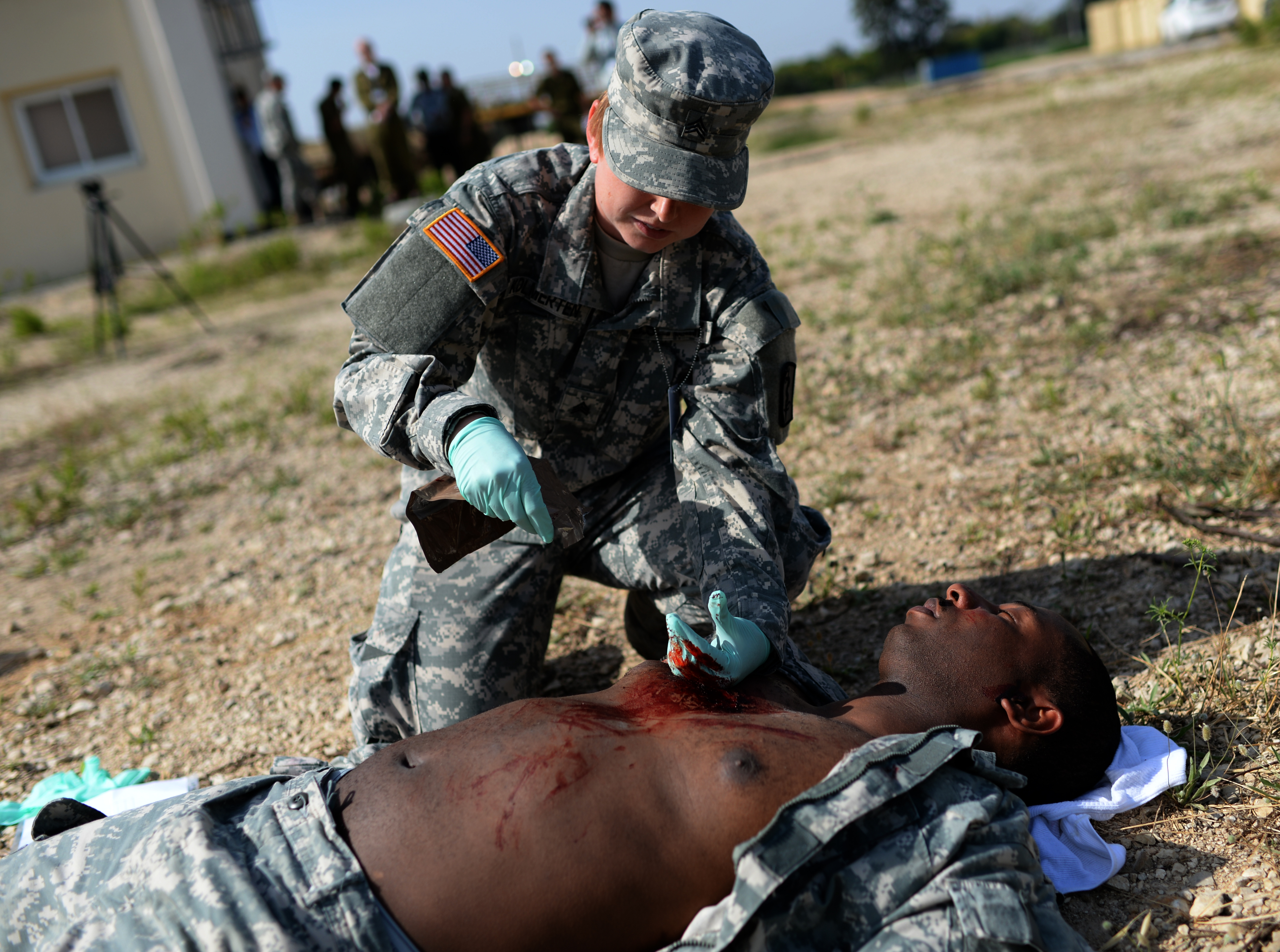 us army sgt tiffany kolmerten a medic assigned to the 557th medical company and