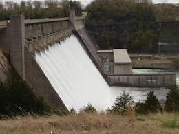 Spillway releases being made through Bull Shoals Dam