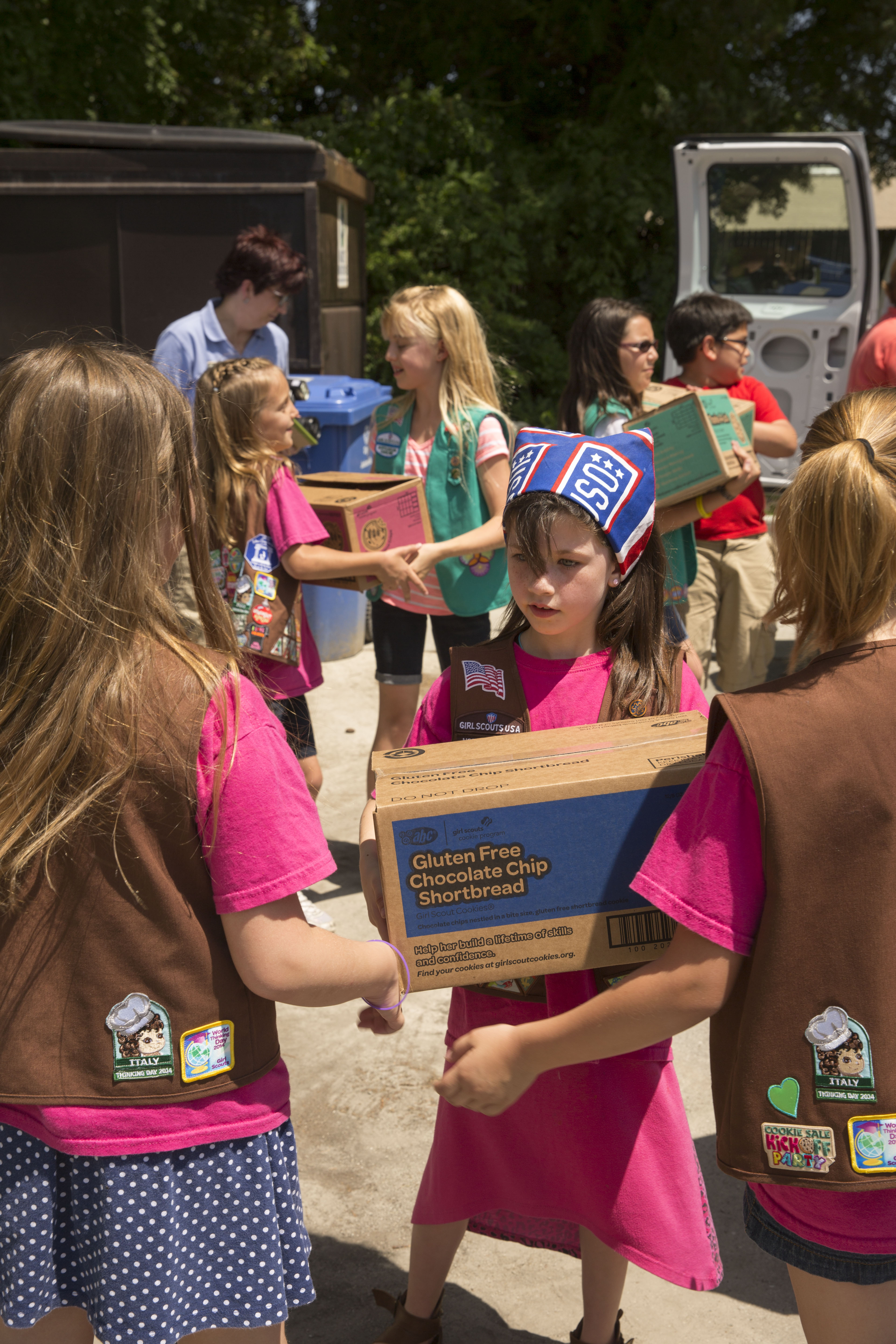 operation cookie drop girl scouts show troop appreciation