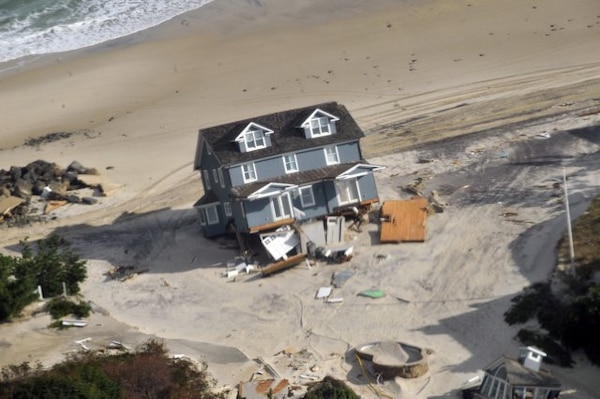 NEW JERSEY -- Damage on the Jersey Shore is visible Nov. 2, 2012 after Hurricane Sandy struck New Jersey and New York.