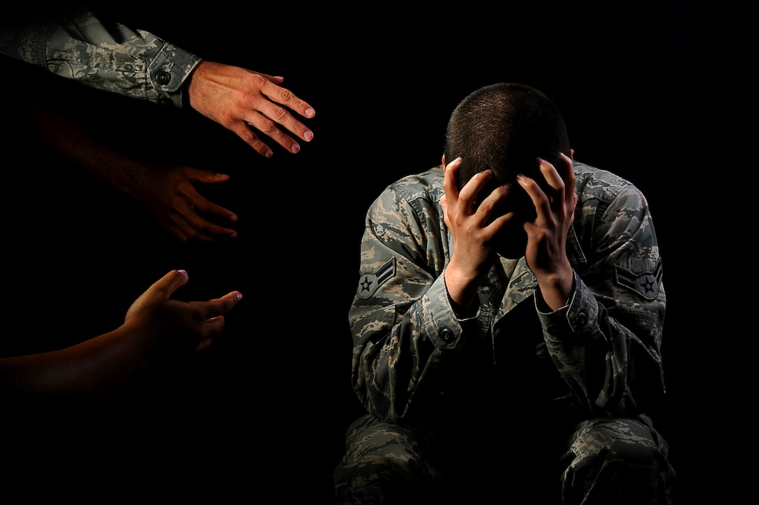 GOODFELLOW AIR FORCE BASE, Texas -- Friends and family can be important influences to help someone get treatment for mental health issues. Reaching out and letting them know someone is there to help them is the first step. (U.S. Air Force photo illustration/ Airman 1st Class Devin Boyer)