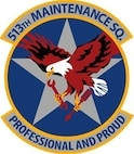 The shield for the 513th Aircraft Maintenance Squadron.