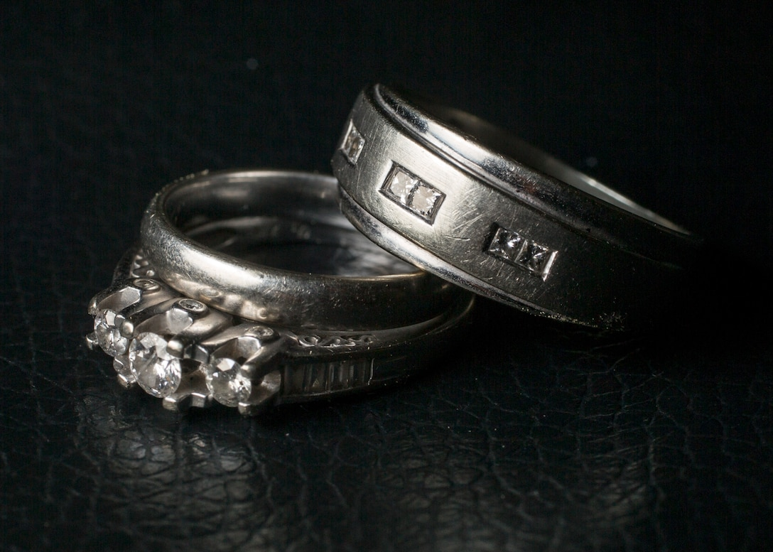 A photo illustration displaying wedding rings, a traditional symbol of marriage, at Camp Lejeune, N.C., May 22, 2014. (U.S. Marine Corps photo illustration by Lance Cpl. Joshua W. Brown/Released)