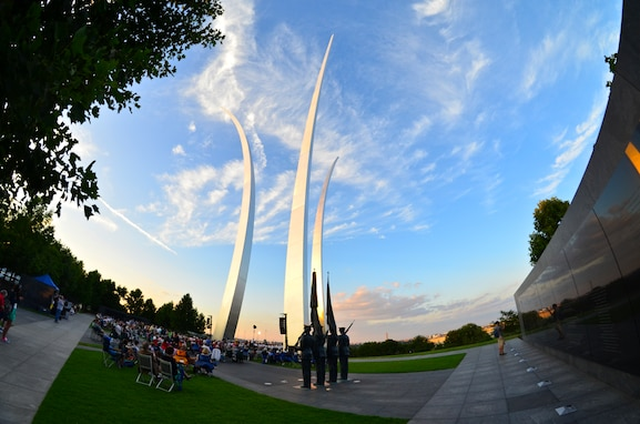 The U.S. Air Force Band and Singing Sergeants kick off summer tonight at their first summer concert of the season at the Air Force Memorial. (U.S. Air Force photo released)