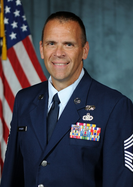 Official photo of New York Air National Guard Chief Master Sgt. James Boswell. (New York Air National Guard photo by Tech. Sgt. Jeremy M. Call/Released)