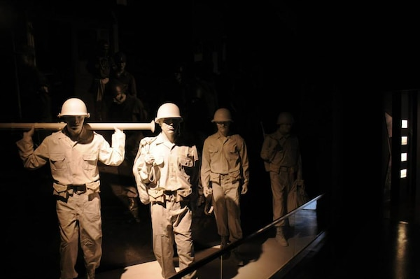 Sculptures of American Soldiers during the Battle of Osan as seen at the United Nations Forces First Battle Memorial Museum.