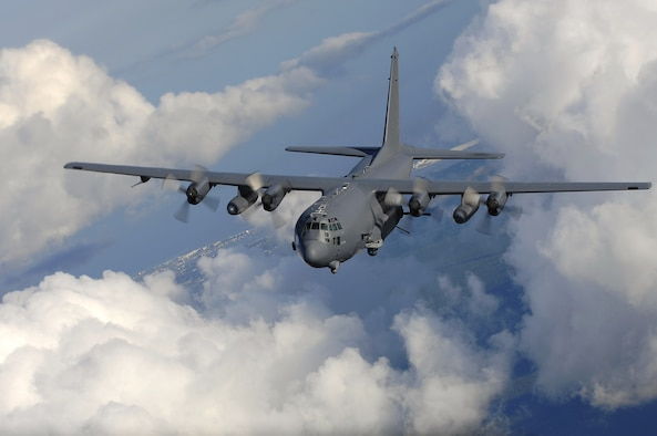 An AC-130U gunship from the 4th Special Operations Squadron, flies near Hurlburt Field, Fla., Aug. 20. The AC-130 gunship's primary missions are close air support, air interdiction and force protection. (U.S. Air Force photo/ Senior Airman Julianne Showalter)
