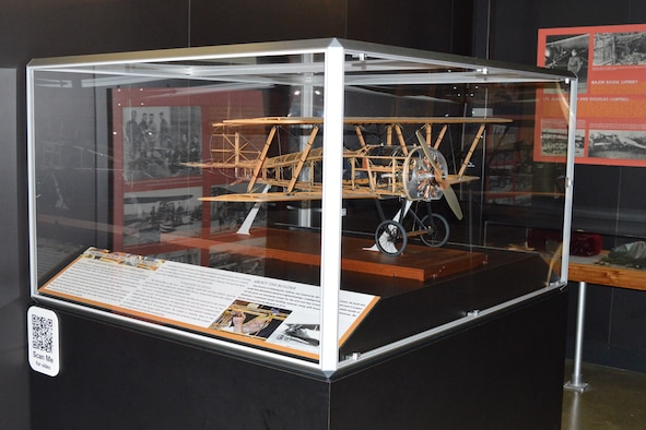 DAYTON, Ohio -- Aircraft model of a Thomas-Morse S4C Scout trainer on