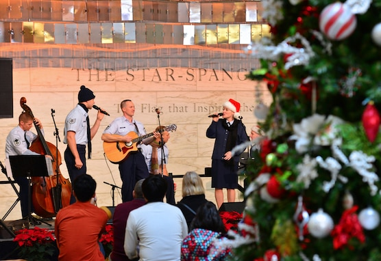 Silver Wings will once again perform for guests at the Smithsonian's National Museum of American History, on Saturday, Dec. 6 and Sunday, Dec. 7, at 12:30 p.m., 1:30 p.m. and 2:30 p.m. (U.S. Air Force photo by Senior Master Sgt. Kevin Burns/released)