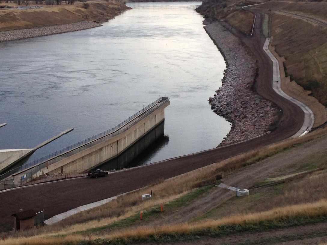 The Garrison Dam West Tailrace Road, at Garrison Dam near Riverdale, N.D., which provides access to the Garrison Power Plant wing walls and west side of the tailrace area, is now open for public use.  The area was closed for a road reconstruction project and to repair damages incurred during the flooding in 2011.