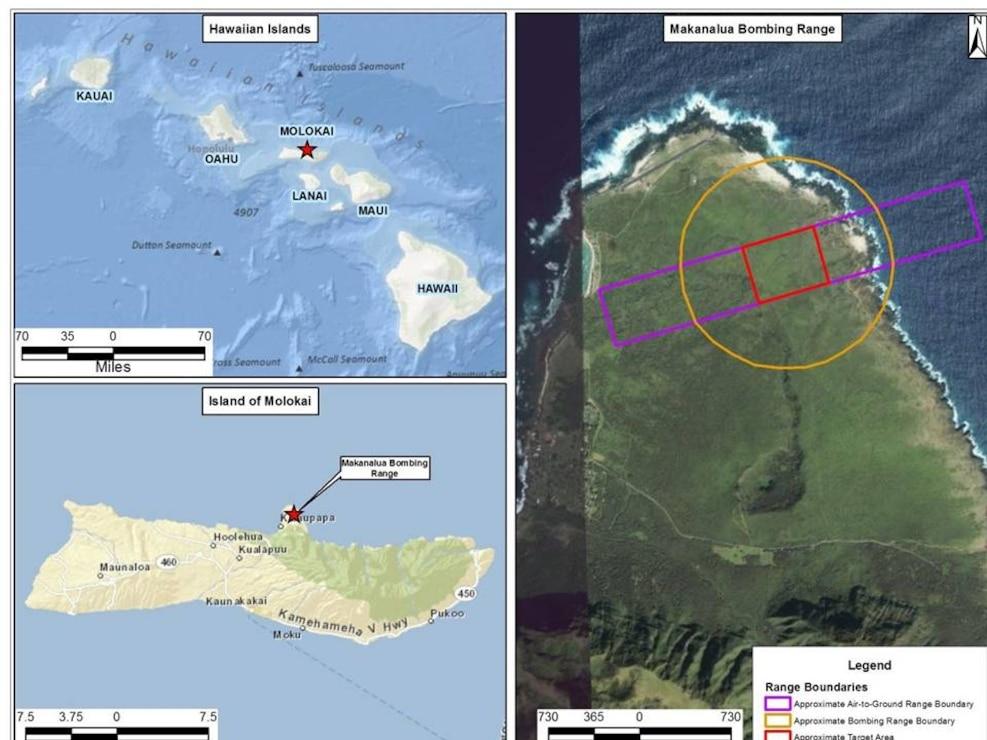 Makanalua Bombing Range Map