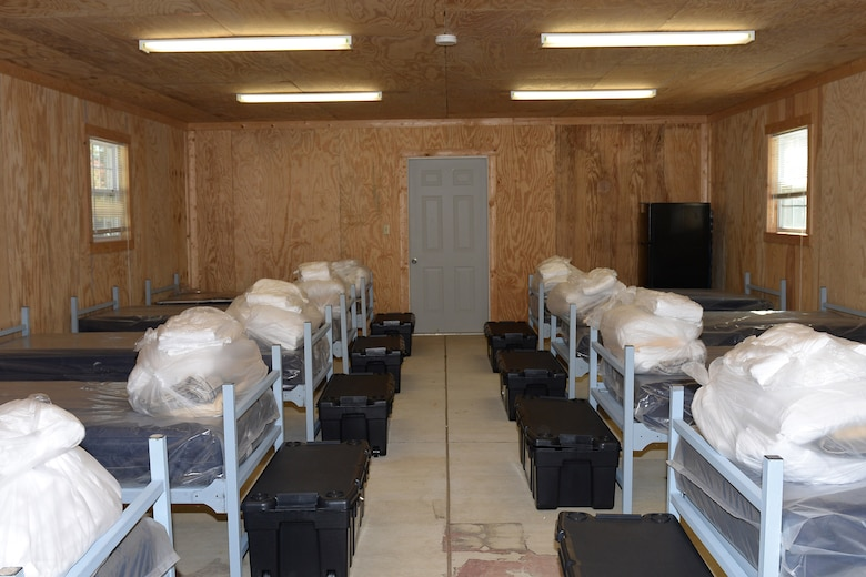 The 633rd Air Base Wing has established a precedent-setting controlled monitoring area, shown here Nov. 7, 2014, at the Langley Transit Center at Langley Air Force Base Va. The LTC will comfortably house and serve military personnel returning from missions combating the Ebola virus in West Africa. (U.S. Air Force photo/Staff Sgt. Teresa J. Cleveland)