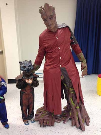 Guardians of the galaxy also invaded the Halloween celebration at MSG HQ