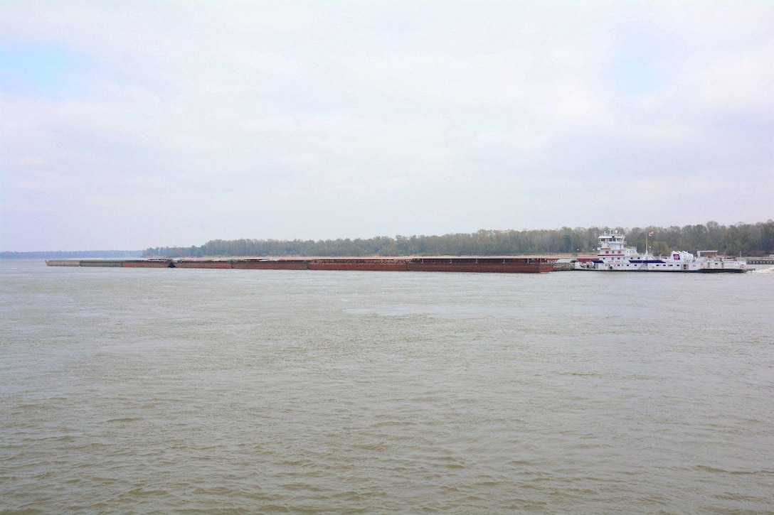 At noon Nov. 12 the motor vessel E. BRONSON INGRAM, 10,500 HP, passed the mat sinking plant northbound with 49 barges.