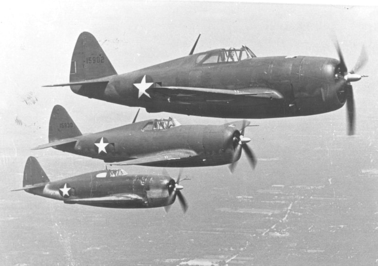 Since the 355th Fighter Wing activated 72 years ago, it has been assigned at many locations around the world. By the end of WWII, the 355th Fighter Group logged more than 17,000 flights in P-47 Thunderbolt and P-51 Mustang aircraft and destroyed 862.5 enemy aircraft. The unit was inactivated November 20, 1946. The 355th FG reactivated at McGhee-Tyson Airport, Tennessee, August 18, 1955, operating the F-86D Sabre Jet under the Air Defense Command. (Courtesy Photo)