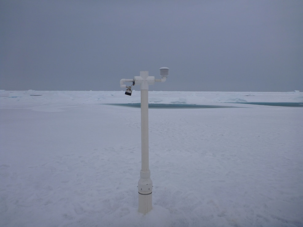 The ice mass balance is the great thermodynamic integrator. If there is net warming over time, then there will be thinning of the ice.  To study this, ERDC-CRREL developed the seasonal version of the Ice Mass Balance Buoy (SIMB) in response to the recent dramatic shift to a younger, thinner ice cover.