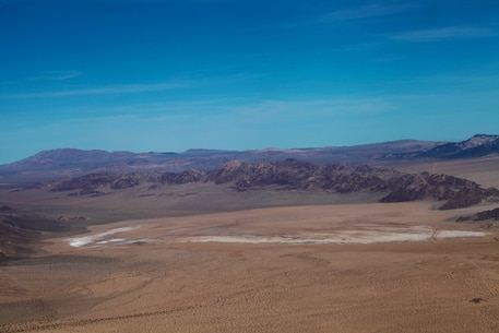 Aerial view of Johnson Valley, looking northeast toward the Exclusive Military Use Area.