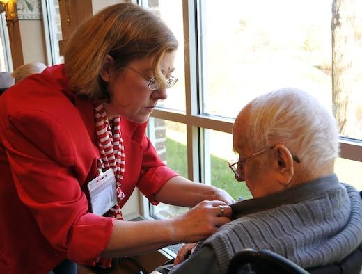Lady with Senior Citizen