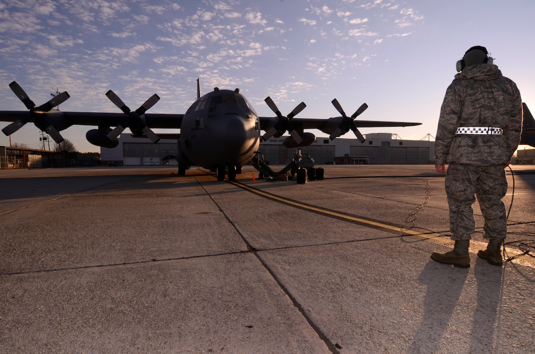 A U.S. Air Force C-130 Hercules C-130 Hercules sits on the flightline at Dobbins Air Reserve Base, Ga. Recently Dobbins sent a C-130 team to Joint Base Elmendorf-Richardson, Alaska for RED FLAG Alaska 15-1, Oct. 2 through 17. All RED FLAG-Alaska exercises take place in the Joint Pacific Range Complex over Alaska as well as a portion of Western Canadian airspace. The entire airspace is made up of extensive Military Operations Areas, Special Use Airspace and ranges, for a total airspace of more than 67,000 square miles. (U.S. Air Force courtesy photo/Released)