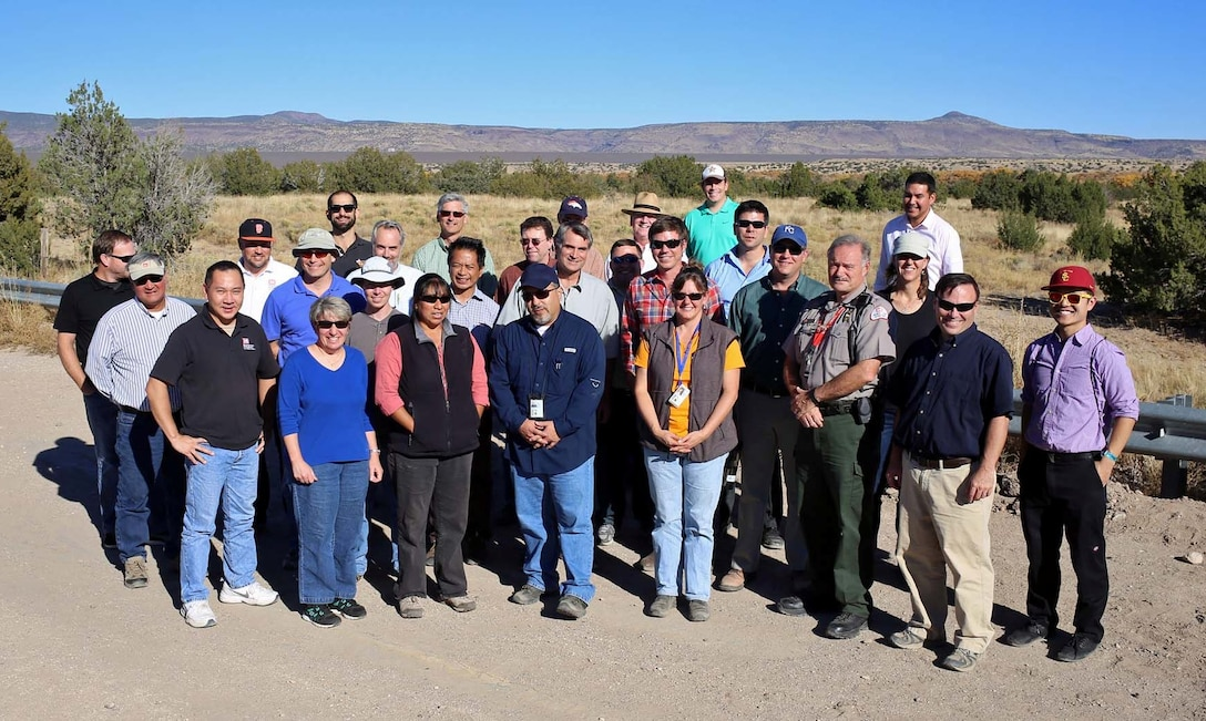 COCHITI PUEBLO, N.M., -- On Oct. 29, 2014, meeting participants took a field trip to Cochiti Dam and the nearby former Dixon apple orchard to see how the area's hydrologic conditions have changed.