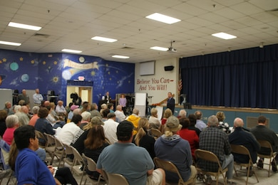 Red Mill Elementary School in Virginia Beach, Va., provided the venue Nov. 6, as more than 100 Sandbridge area community members voiced their concerns and opinions on the pending Environmental Impact Statement study for the proposed Wilkins' Marina project. The scoping meeting, hosted by the Norfolk District, U.S. Army Corps of Engineers, sought to listen to community members and capture their comments for use in the development of the EIS.