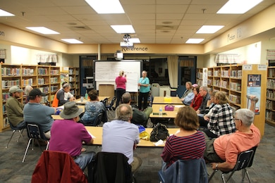Red Mill Elementary School in Virginia Beach, Va., provided the venue Nov. 6, as more than 100 Sandbridge area community members voiced their concerns and opinions on the pending Norfolk District Environmental Impact Statement study for the proposed Wilkins' Marina project.