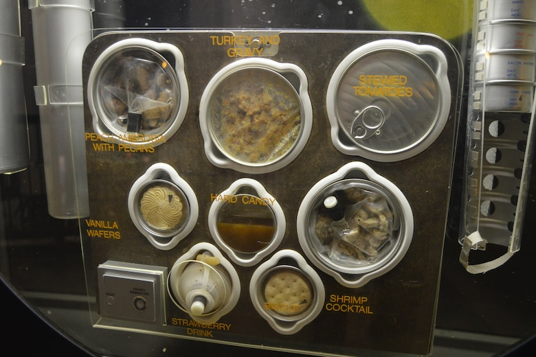 DAYTON, Ohio -- Space Foods exhibit in the Missile and Space Gallery at the National Museum of the United States Air Force. (U.S. Air Force photo)