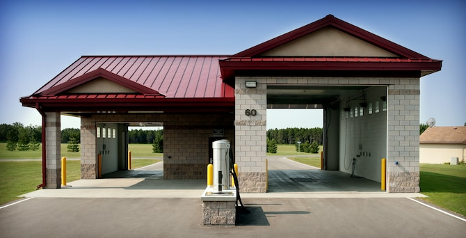 Vehicle Wash Facility is specifically for GOV vehicles offering a small and large bay.