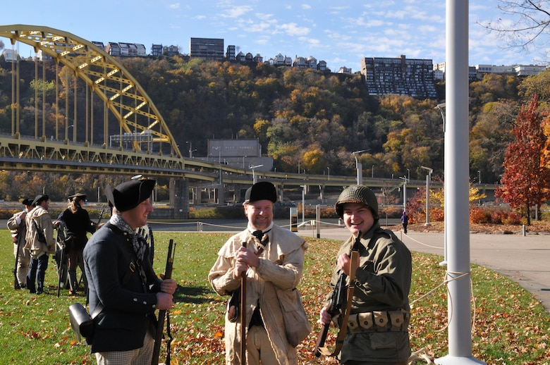 The Pennsylvania National Guard joined with the Pennsylvania Department of Conservation of Natural Resources' Point State Park and the Association of the United States Army to organize Steel City Salutes the Troops, Pittsburgh, November 8, 2014.  The event is a celebration of the region's military history, community impact and continued relevance. (U.S. Air National Guard photo by Staff Sgt. Michael Fariss/ Released)