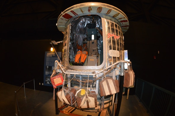 DAYTON, Ohio -- Stargazer Gondola on display in the Missile and Space Gallery at the National Museum of the United States Air Force. (U.S. Air Force photo)
