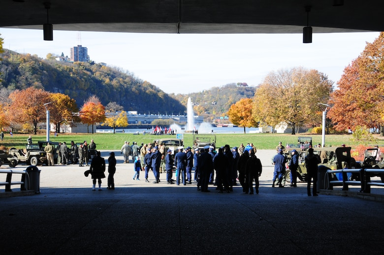 The Pennsylvania National Guard joined with the Pennsylvania Department of Conservation of Natural Resources' Point State Park and the Association of the United States Army to organize Steel City Salutes the Troops, Pittsburgh, November 8. 2014.  The event is a celebration of the region's military history, community impact and continued relevance. (U.S. Air National Guard photo by Master Sgt. Shawn Monk/ Released)