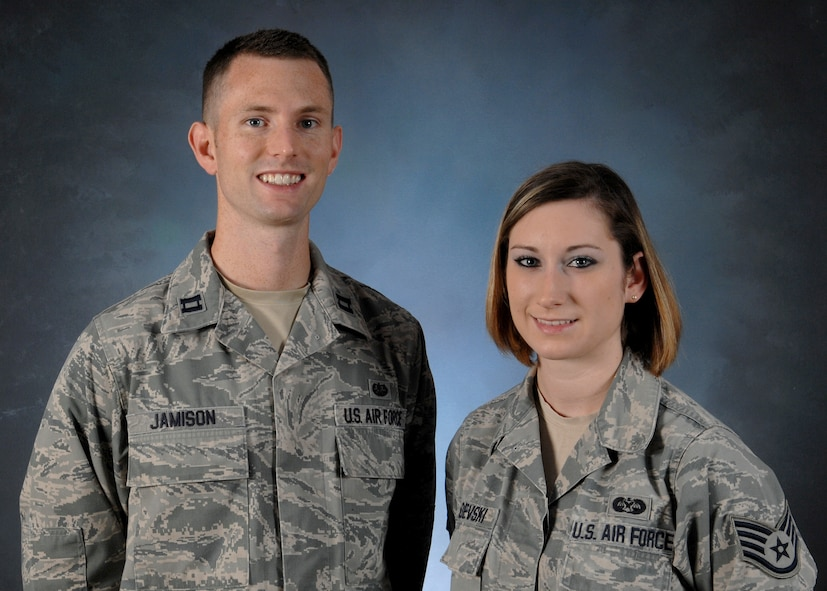 Capt. John Jamison, Air Force Legal Operations Agency area defense counsel and Staff Sgt. Callie Radevski, AFLOA paralegal, make up Incirlik's Area Defense Counsel Office. The ADC provides legal counsel during almost all adverse actions ranging from courts-martial to letters of counseling. (U.S. Air Force photo by Staff Sgt. Caleb Pierce/Released)