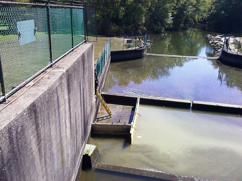 Members of the Pittsburgh Engineering Warehouse and Repair Station partnered with the Mosquito Lake staff to repair a leak at the dam outflow during the week of Sept. 22