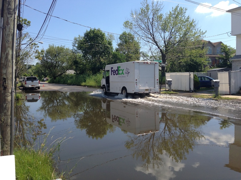 Streets in the Midland Beach neighborhood failed to drain even days after a storm in 2013.