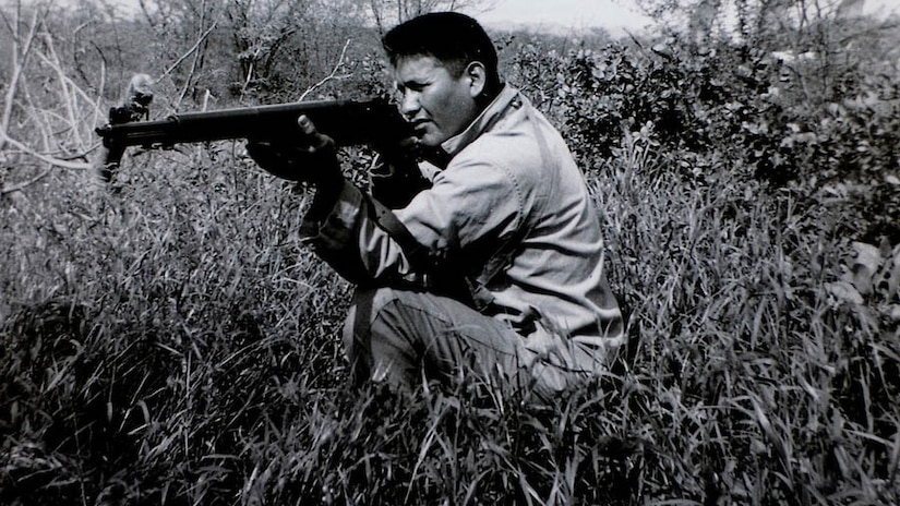 Chester Nez was one of the 29 original Navajo codetalkers charged with creating and transmitting the code. What used to take an hour to encrypt, transmit and decrypt on the mechanical Shackle encryption system could be transmitted orally by code-talkers in 40 seconds, giving the Americans the edge in battlefield communications against the Japanese in the Pacific.