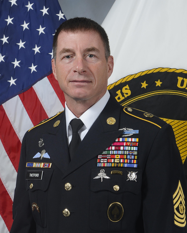 Command Sergeant Major William F Thetford Gt U S